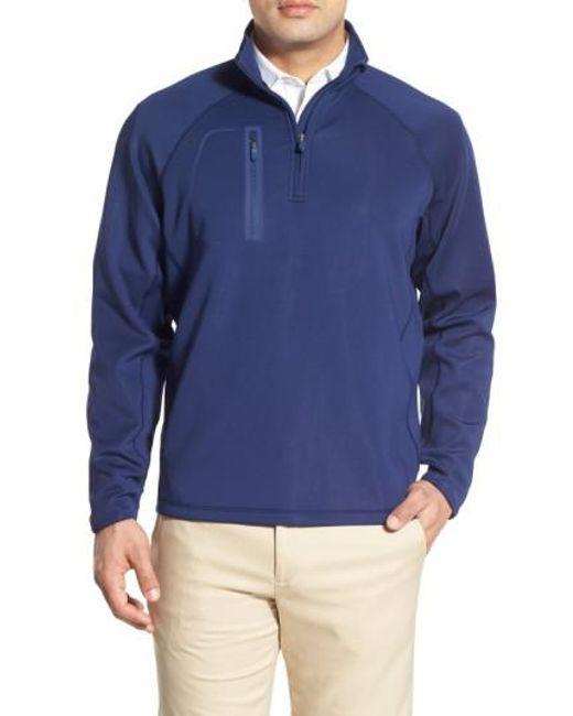Bobby Jones | Blue 'crawford - Xh20' Stretch Quarter Zip Golf Pullover for Men | Lyst
