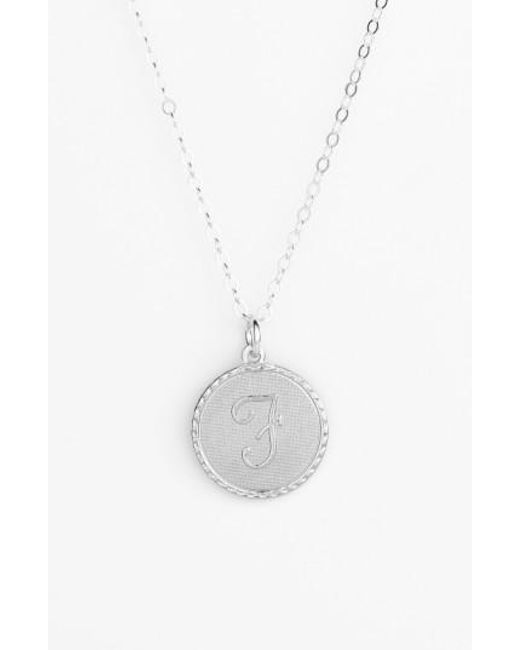 Moon & Lola | Metallic 'dalton' Initial Pendant Necklace | Lyst