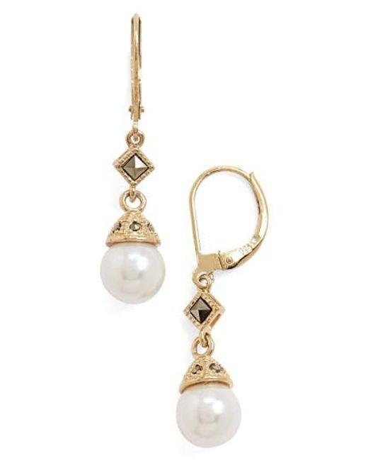 Judith Jack | Metallic Imitation Pearl Drop Earrings | Lyst
