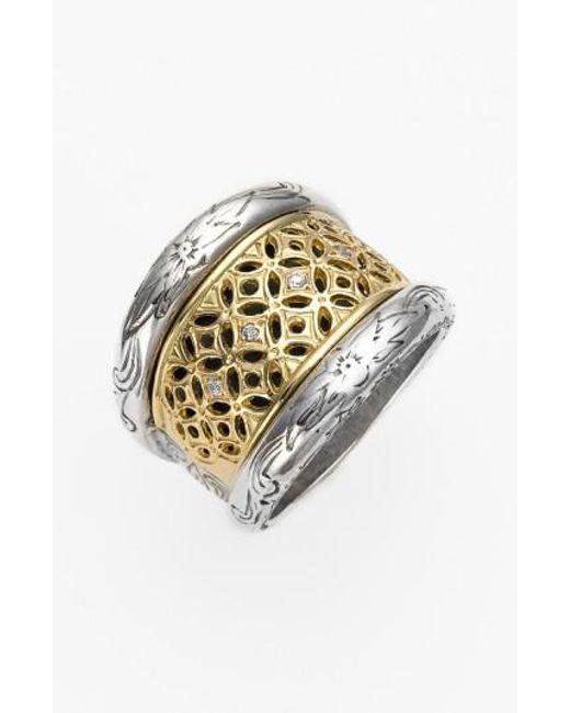 Konstantino | Metallic 'diamond Classics' Diamond Filigree Ring | Lyst