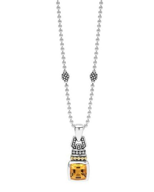 Lagos | Metallic 'caviar Color' Pendant Necklace | Lyst