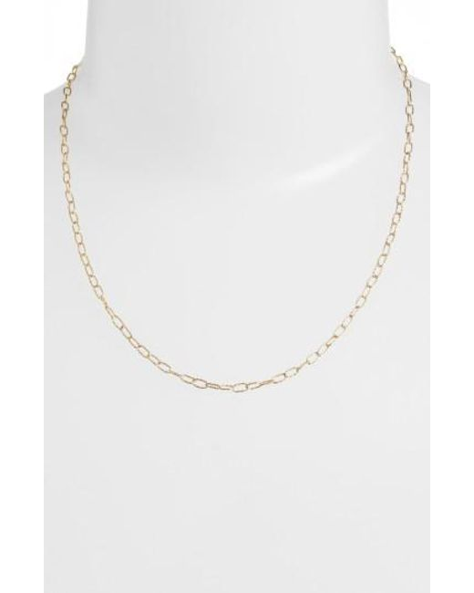 Bony Levy - Yellow Textured Chain Necklace - Lyst