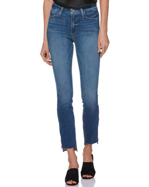 PAIGE - Blue Transcend Vintage - Hoxton High Waist Ankle Straight Leg Jeans - Lyst