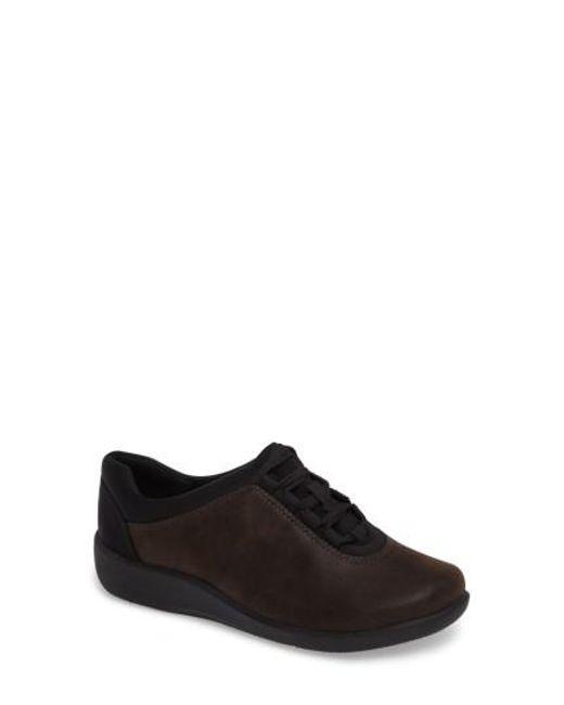 Clarks - Brown Clarks Sillian Pine Sneaker - Lyst