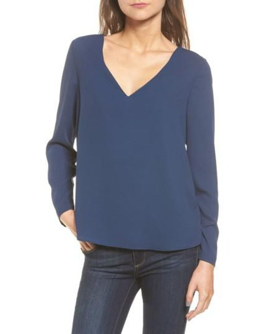 Cooper & Ella | Blue Freja Long Sleeve Blouse | Lyst