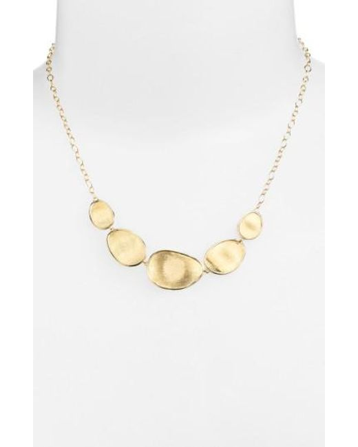 Marco Bicego | Metallic 'lunaria' Frontal Necklace | Lyst