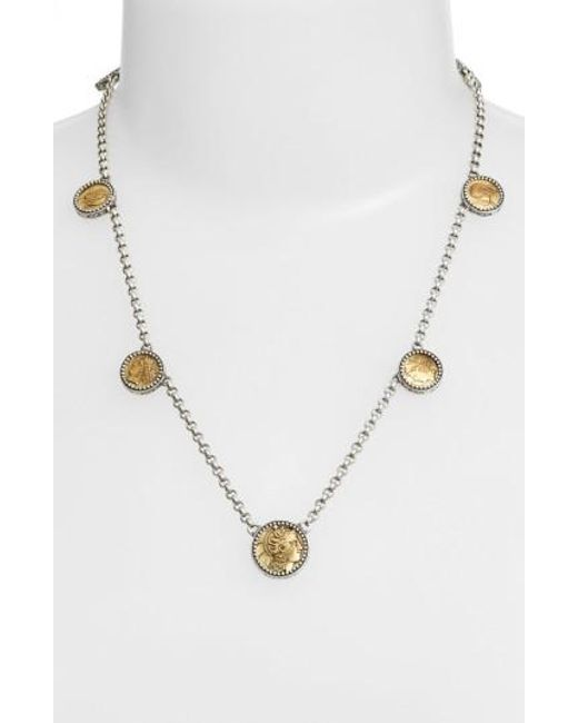 Konstantino | Metallic 'goddess' Coin Necklace | Lyst