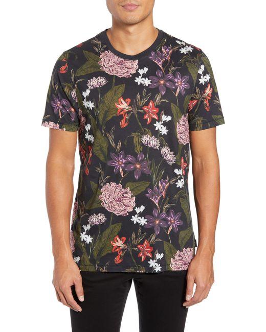 Ted Baker - Black Glee Slim Fit Print T-shirt for Men - Lyst