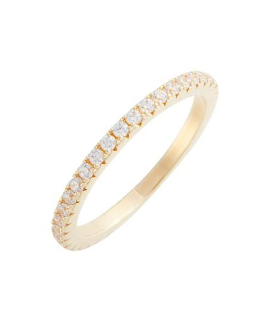 Nordstrom - Metallic Pave Eternity Band - Lyst