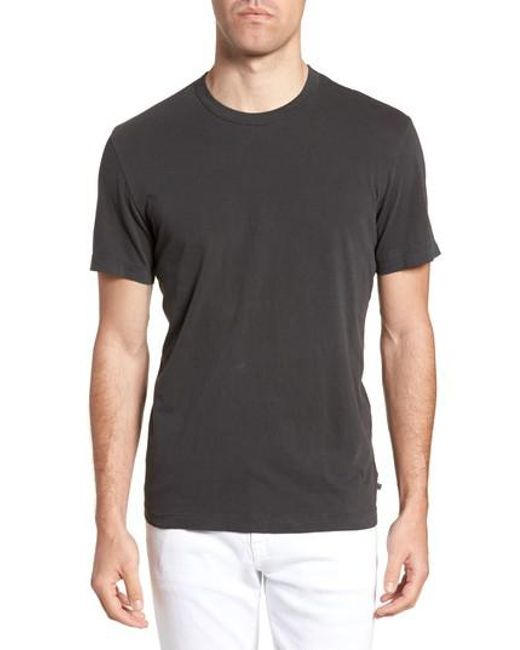James Perse - Black Crewneck Jersey T-shirt for Men - Lyst
