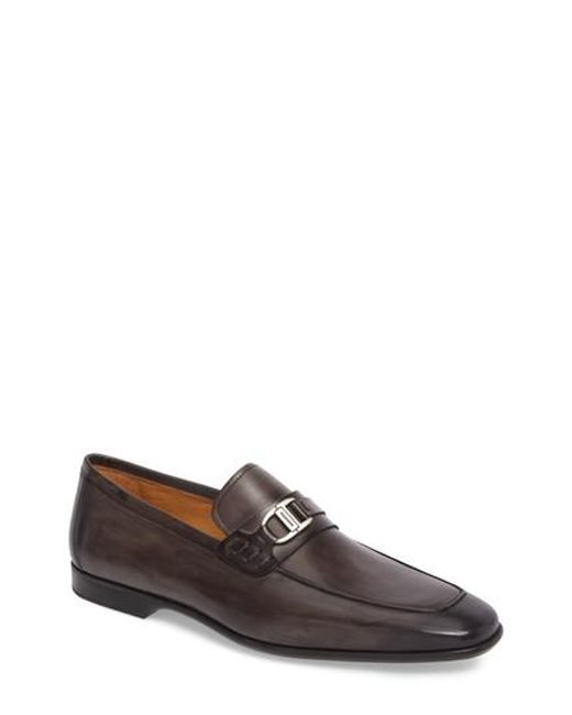 Magnanni Shoes - Gray Rufino Bit Loafer for Men - Lyst