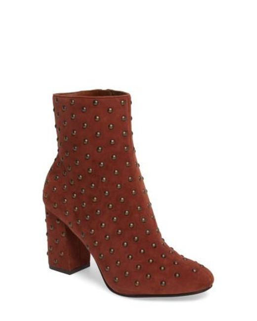 Lucky Brand | Brown Wesson Ii Studded Bootie | Lyst