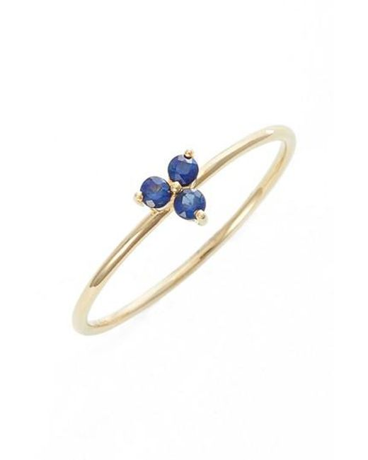 EF Collection - Blue Gemstone Ring - Lyst