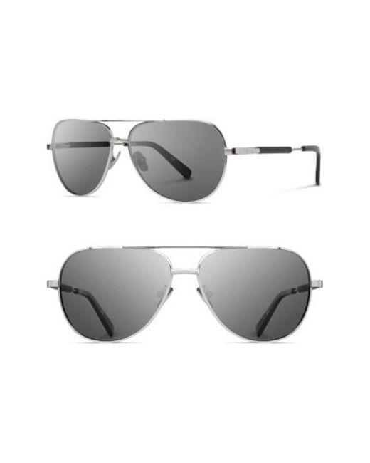 Shwood   Metallic 'redmond' 53mm Titanium & Wood Aviator Sunglasses   Lyst