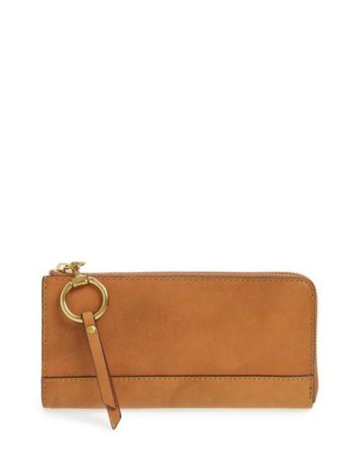 Frye | Brown Large Ilana Harness Leather Zip Wallet | Lyst