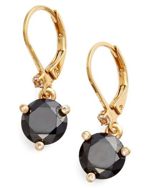 Kate Spade | Black 'rise And Shine' Lever Back Earrings | Lyst