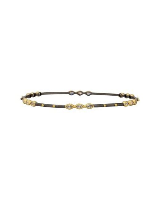 Freida Rothman - Metallic Signature Marquise Bangle - Lyst