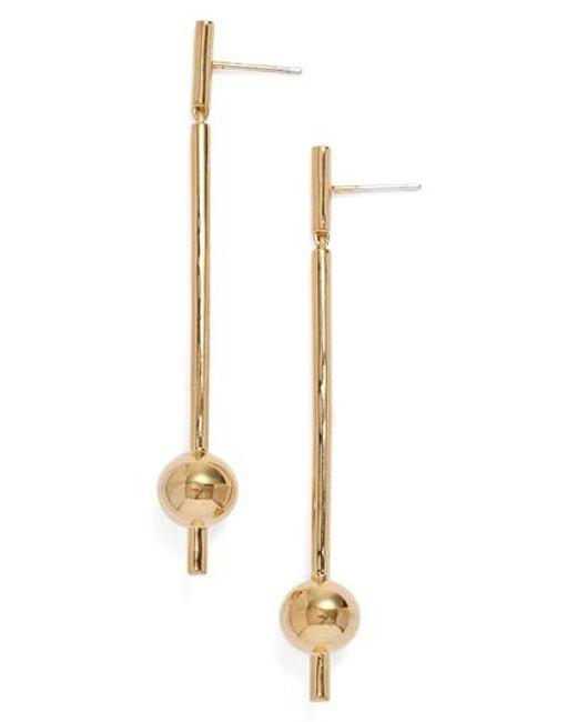 Elizabeth and James | Metallic 'esser' Linear Drop Earrings | Lyst