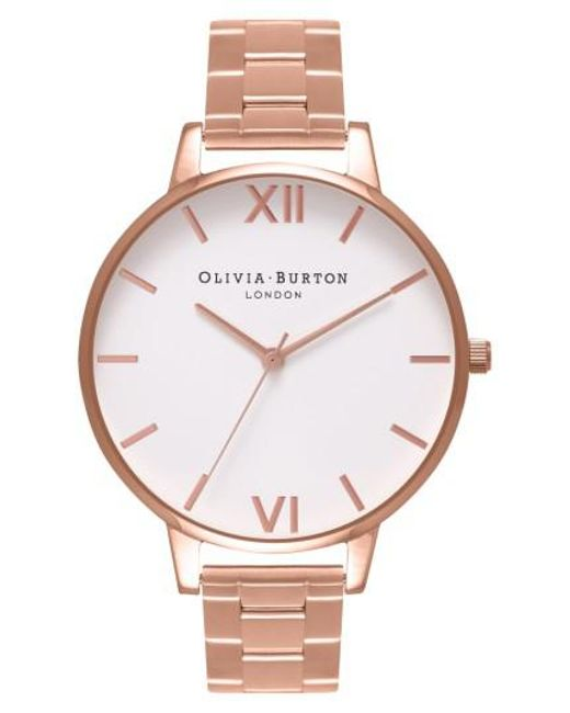 Olivia Burton | Metallic Big Dial Bracelet Watch | Lyst
