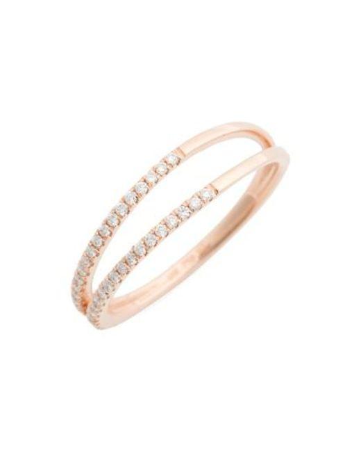 Bony Levy | Metallic Diamond Two Row Ring (nordstrom Exclusive) | Lyst