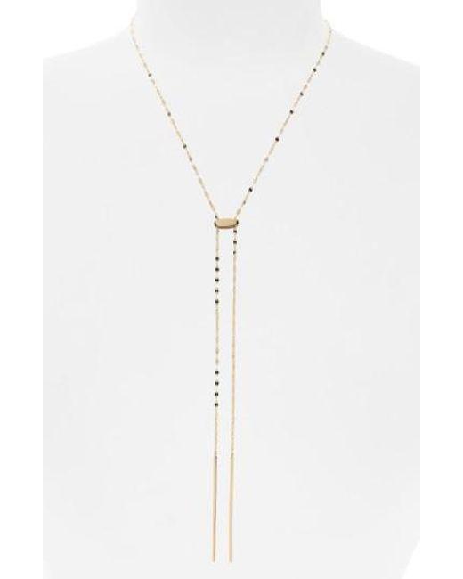 Lana Jewelry | Metallic Blake Tie Up Lariat Necklace | Lyst
