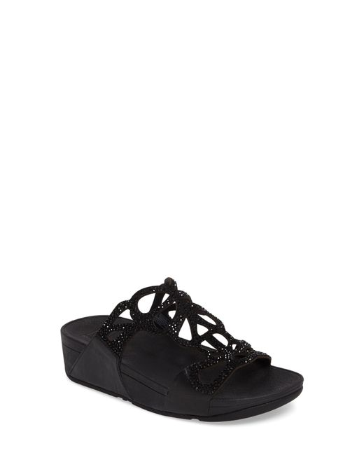 Fitflop - Black Bumble Wedge Slide Sandal - Lyst