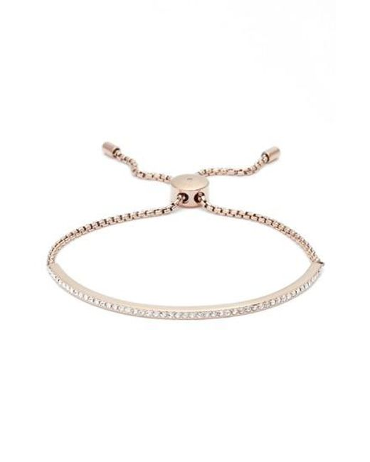 Michael Kors | Metallic Crystal Skinny Bracelet | Lyst