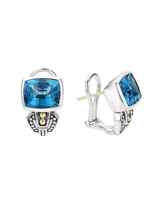 Lagos - Blue 'caviar Color' Semiprecious Stone Stud Earrings - Lyst