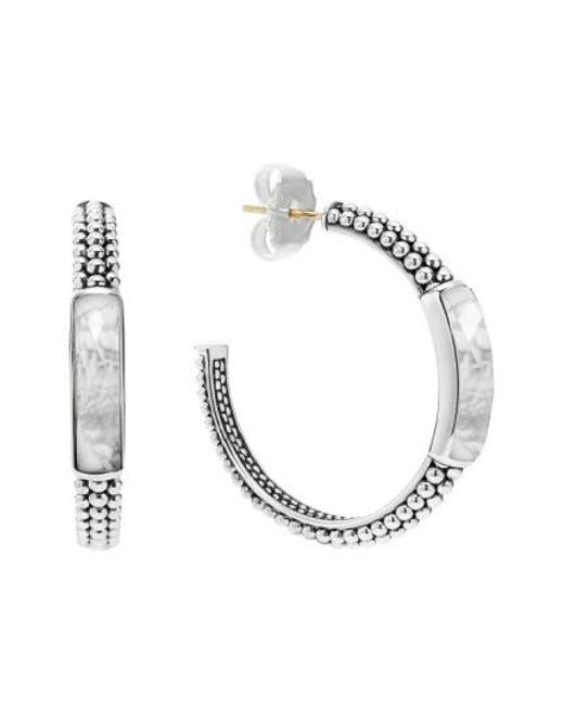 Lagos | Metallic 'maya' Caviar Hoop Earrings | Lyst