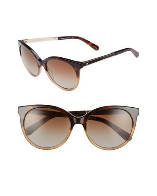 Kate Spade | Multicolor 'amayas' 53mm Cat Eye Sunglasses - Havana Beige | Lyst