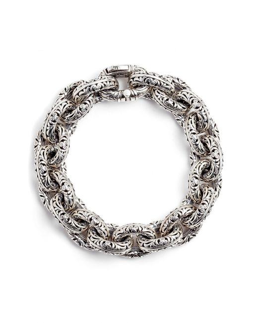 Konstantino - Metallic Etched Sterling Silver Filigree Bracelet - Lyst