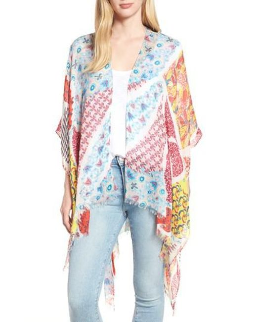 Echo - Multicolor Launceston Patchwork Ruana - Lyst