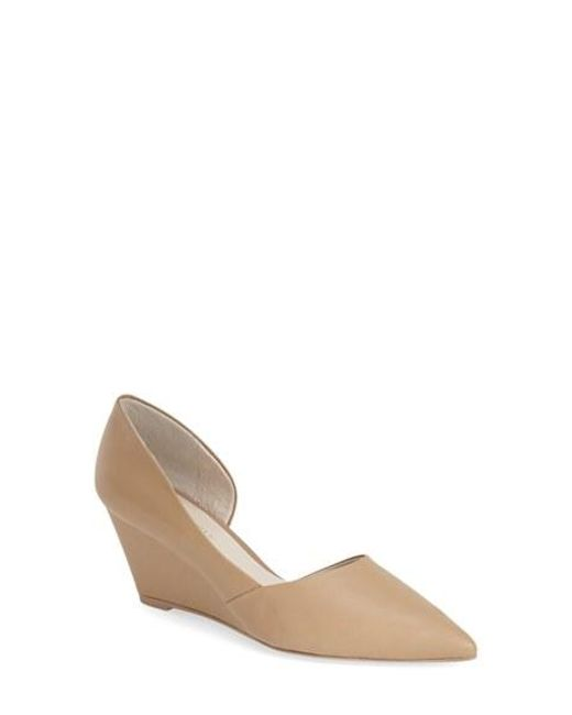 Kenneth Cole | Brown 'ellis' Half D'orsay Wedge Pump | Lyst