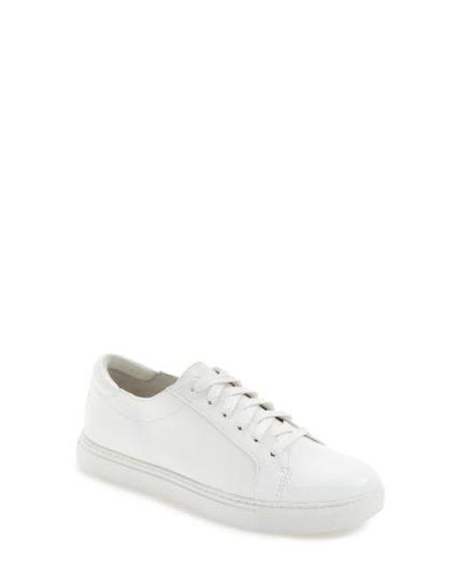 Kenneth Cole   White Sam Satin Sneaker   Lyst