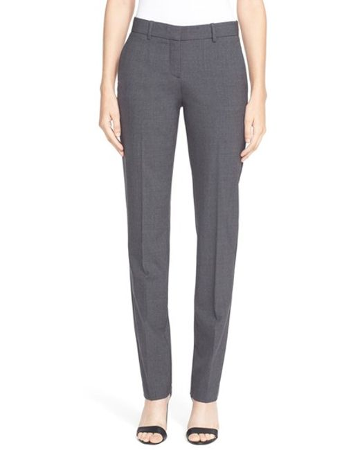Theory | Gray 'super Slim Edition' Stretch Wool Pants | Lyst
