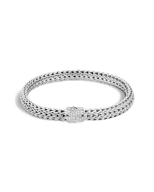John Hardy | Metallic 'classic Chain' Diamond Small Bracelet | Lyst