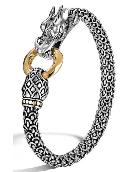 John Hardy | Metallic Legends Macan Black Sapphire, Black Spinel, Swiss Blue Topaz & Sterling Silver Bracelet | Lyst