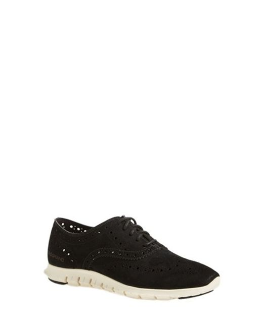 Cole Haan | Black 'Zerogrand' Perforated Oxford | Lyst