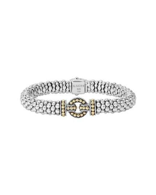 Lagos   Metallic 'enso' Two-tone Rope Caviar Bracelet   Lyst