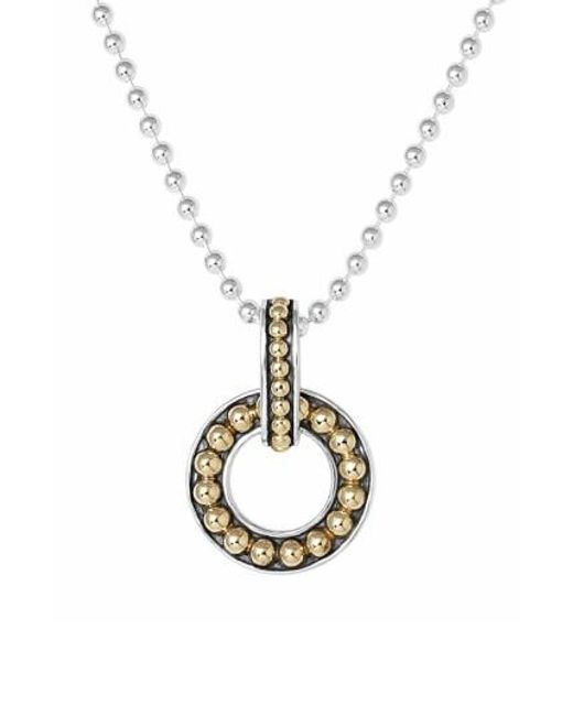 Lagos | Metallic 'enso' Pendant Necklace | Lyst