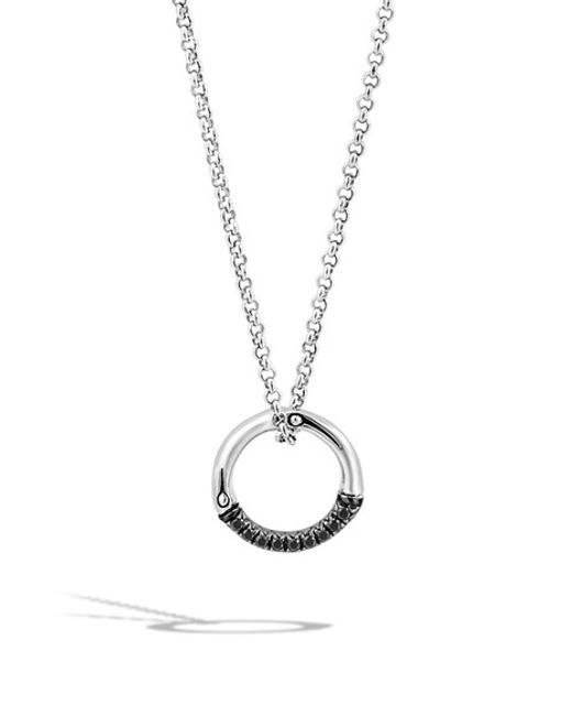 John Hardy | Metallic 'bamboo - Lava' Circle Pendant Necklace | Lyst