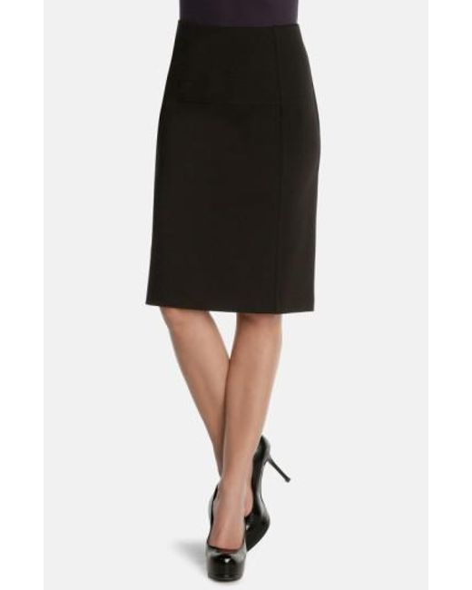 NIC+ZOE | Black 'new Flirt' Ponte Knit Skirt | Lyst