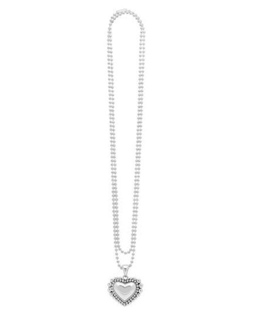 Lagos   Metallic Long Heart Pendant Necklace   Lyst