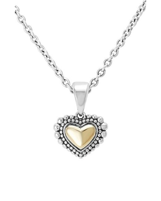 Lagos | Metallic Two-tone Heart Pendant Necklace | Lyst