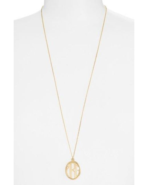 Argento Vivo | Metallic Personalized Monogram Pendant Necklace | Lyst
