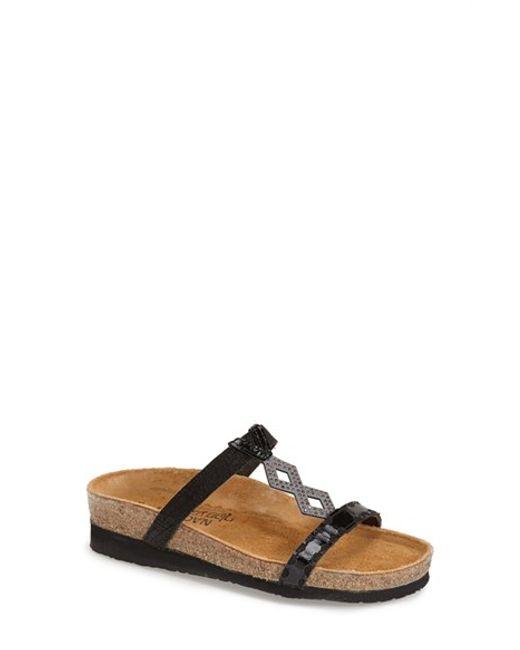 Naot | Black Embellished Leather Sandals | Lyst