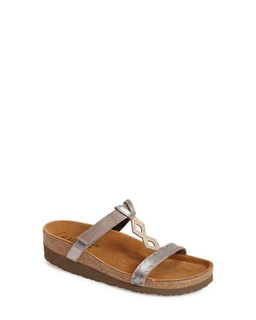 Naot | Metallic Embellished Walking Sandal | Lyst