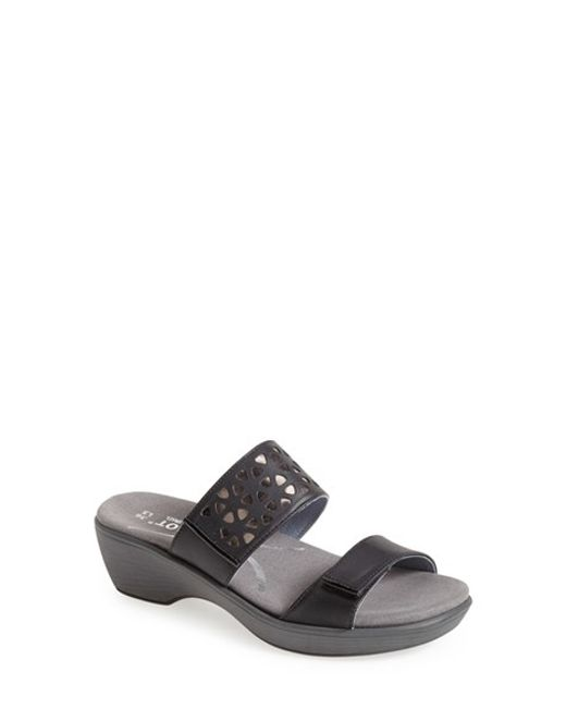 Naot | Black 'moreto' Wedge Sandal | Lyst