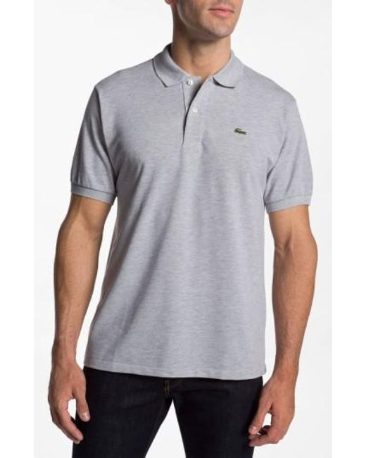 Lacoste | Metallic 'chine' Pique Polo for Men | Lyst