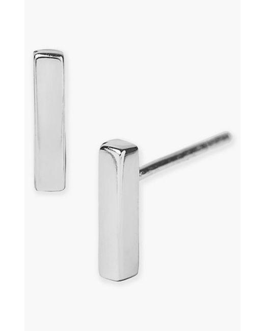 Argento Vivo   Metallic Bar Stud Earrings   Lyst